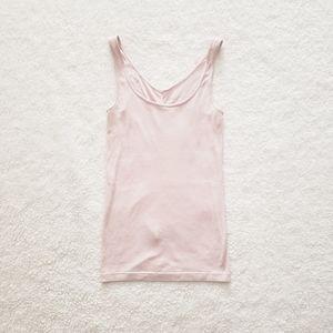 Blush Pink Ribbed Tank Top